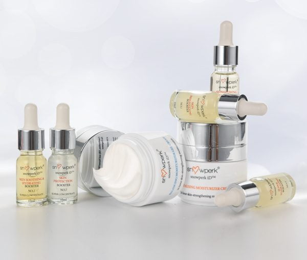 personalised skincare, snowperk, moisturizer and booster
