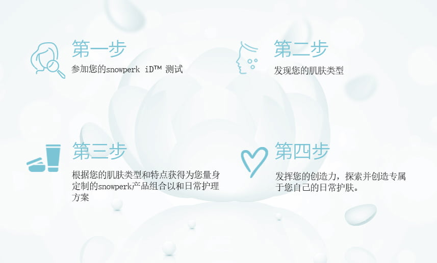 个性化定制护肤品, snowperk, snowperk iD